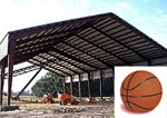 Double Basketball Court Cover