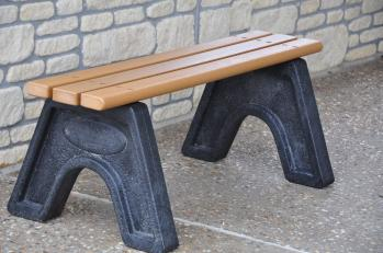 4' Sport Bench - Recycled Plastic