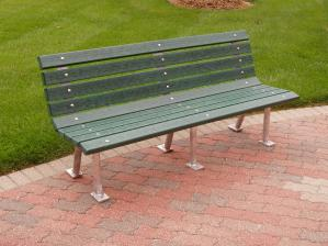 4' St. Pete Bench - Recycled Plastic