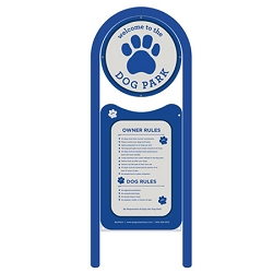 Doggie Park Welcome Sign - Single Sided