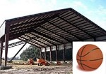 Single Basketball Court Cover